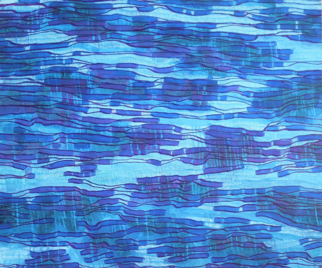 Morze IX 2014, akryl na płótnie 120x100cm.