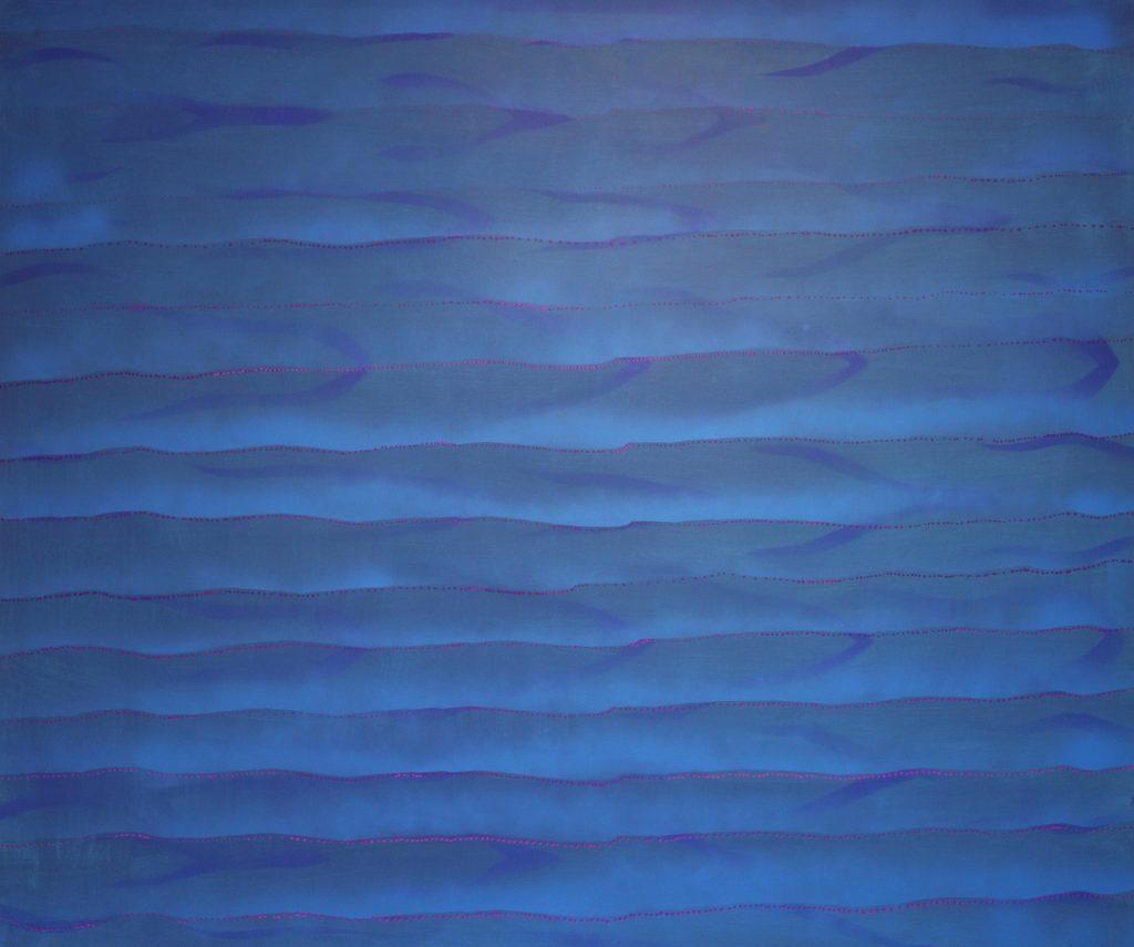 Morze V 2016, akryl na płótnie 120x100cm