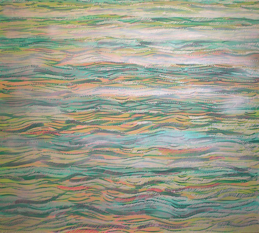 Morze V 2016, akryl na płótnie 100x90cm