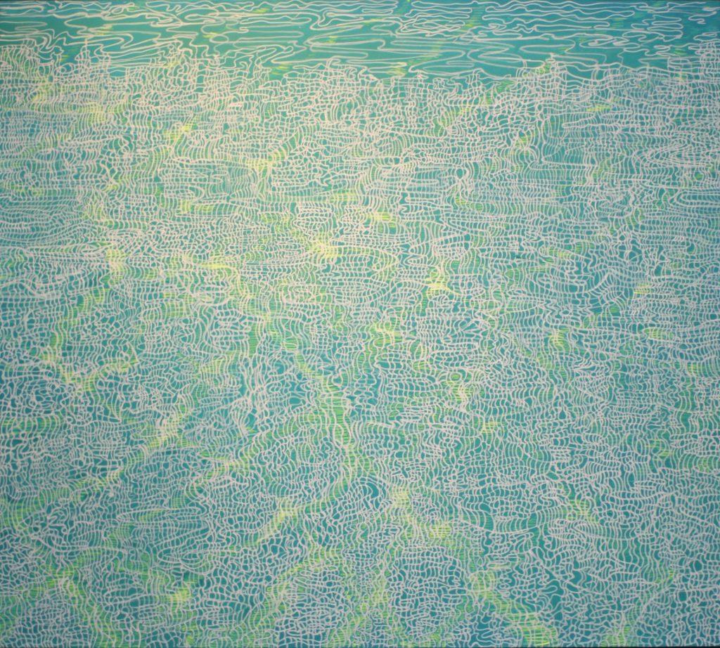 Morze VI 2016, akryl na płótnie 100x90cm