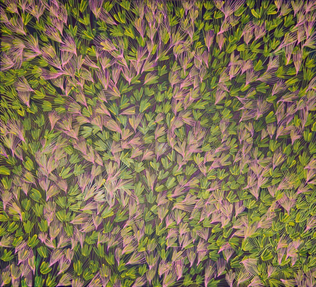 Jałowiec 2015, akryl na płótnie, 120x100cm.